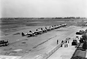 Northrop BT - VB-5 lineup of BT-1s