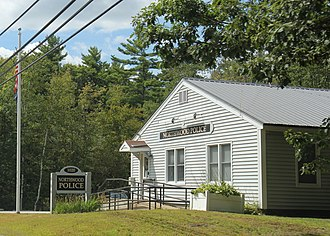 Northwood, New Hampshire - Image: Northwood NH Police Station