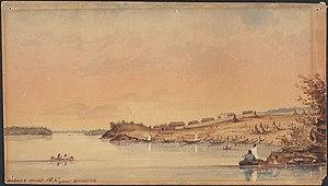 Norway House - Norway House, Lake Winnipeg, Manitoba, c. 1847
