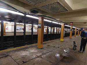 Nostrand Avenue (IND Fulton Street Line) - A view of the upper level