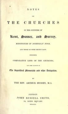 Notes on the churches in the counties of Kent, Sussex, and Surrey.djvu