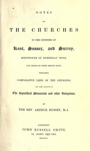 File:Notes on the churches in the counties of Kent, Sussex, and Surrey.djvu