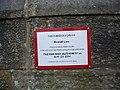 Notice on Ricknall Lane bridge - geograph.org.uk - 1744816.jpg