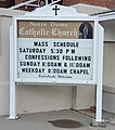 Notre Dame de Lourdes Catholic Church in Price Utah Sign 1.jpg