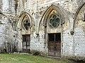 Noyon (60), cathédrale Notre-Dame, cloître, galerie est (détruite), portes de la salle du jubé.jpg
