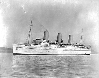 RMS Empress of Britain (1930) - Port side, Empress of Britain, 1931.