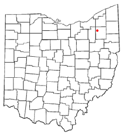 Location of Streetsboro, Ohio
