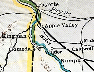 Adrian, Oregon - Route in 1930