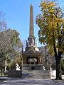 Obelisco de la plaza de la Lealtad (6 de diciembre de 2005, Madrid) 02.JPG