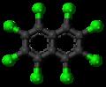 Octachloronaphthalene molecule ball.png