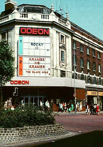 Odeon Cinemas - One of the former Odeon cinemas in Leeds. This is now a Sports Direct branch.