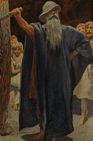 "Barnstokkr - ""Odin in the Hall of the Völsungs"" (1905) by Emil Doepler."