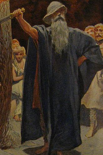 "Barnstokkr - ""Odin in the Hall of the Völsungs"" (1905) by Emil Doepler."