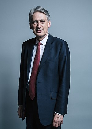 Chancellor of the Exchequer - Image: Official portrait of Mr Philip Hammond