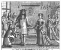Ogilby presenting his Subcription List for Britannia to the King and Queen.png