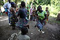 Okapi Wild Reserve, Ituri, DR Congo- Pygmy women perform a traditional dance during the visit by the UN officials.jpg