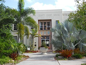 Old Martin County Courthouse - Front (north) facade