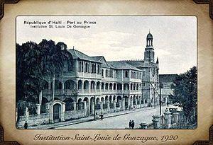 Institution Saint-Louis de Gonzague - Saint Louis rue due Centre, 1920