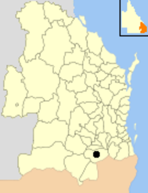 City of Warwick - Location within Queensland
