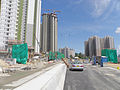 On Sau Road under construction in August 2015.JPG
