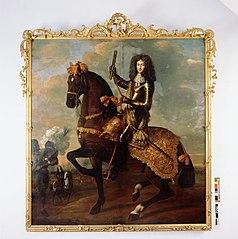 Maurits Lodewijck Nassau La Leck te paard