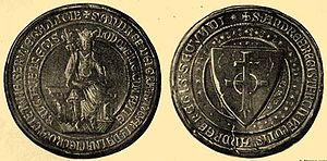 Transylvanian Diet - Royal seal of Andrew III of Hungary who held the first general assembly for the Transylvanian noblemen, Saxons, Székelys and Romanians in early 1291