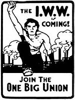 "IWW ""One Big Union"" sticker. Design dates from the 1910s."
