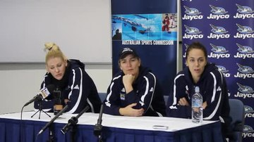 File:Opals press conference at AIS with Lauren Jackson, Carrie Graf and Jenna O'Hea (part 4).ogv