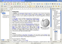 OpenOffice.org Writer 2.0 editando un documento en SUSE