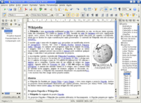 OpenOffice.org Writer word processor. OpenOffice.