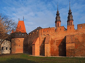 Opole - A fragment of medieval defensive walls that once surrounded Opole