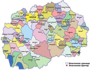 mapa makedonije Administrativna podjela Makedonije   Wikipedia mapa makedonije