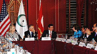 Ahmet Davutoğlu - Davutoğlu (third left) at the Organisation of Islamic Co-operation Conference in 2011