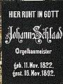 Orgelbaumeister Johann Schlaad Grabstein.JPG