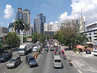 Ortigas Center Central Business District in National Capital Region, Philippines