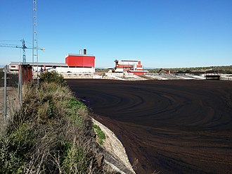 Amurca - Amurca pit at one oil mill, in the province of Jaén.