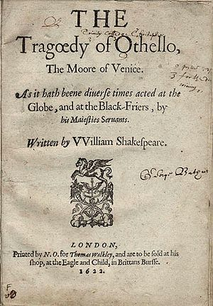 1622 quarto of Othello.
