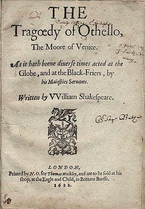 1622 quarto of Othello.
