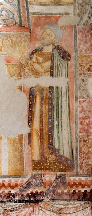 Ottokar III of Styria - Fresco in the St. John chapel, Pürgg, Styria, AT 12 cent.