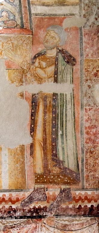 Ottokar III of Styria - Fresco in the St. John chapel, Pürgg, Styria, AT 12 cent.