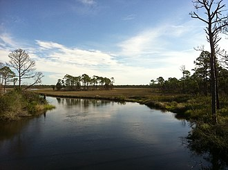 Bald Point State Park - Image: Over looking Chaires Creek