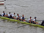 Oxford Crew not happy - end of Boat Race 2012.jpg
