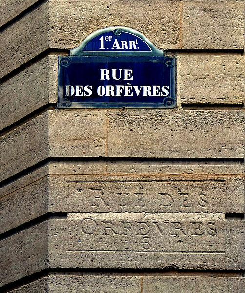Fichier:P1250923 Paris Ier rue des Orfevres plaque et anc inscription rwk.jpg