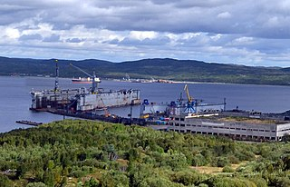 Russian floating dry dock