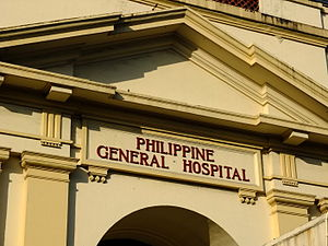 Philippine General Hospital - Pediment detail of PGH Administration Building