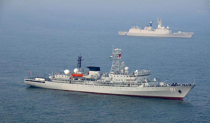 PLA Navy Ships Zhenghe and Weifang off Visakhapatnam, India in May 2014.jpg