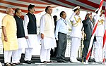 PM Modi at a ceremony to launch the indigenously designed warship INS Kolkata.jpg