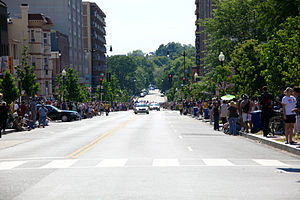 P Street (Washington, D.C.) - The 2000 and 2100 blocks of P Street NW in 2012