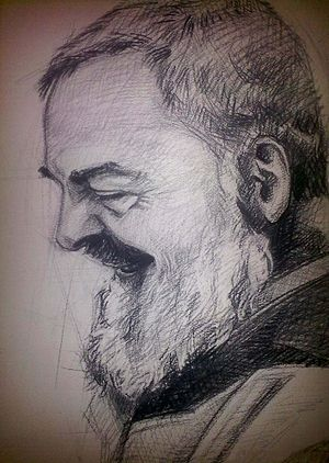Padre Pio portret