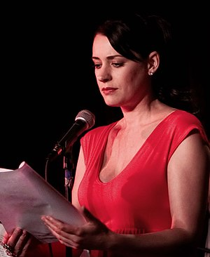 Paget Brewster - Brewster performing at the Thrilling Adventure Hour comedy radio show